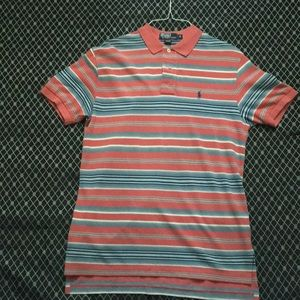 Gently Used Striped Polo Collared T-Shirt